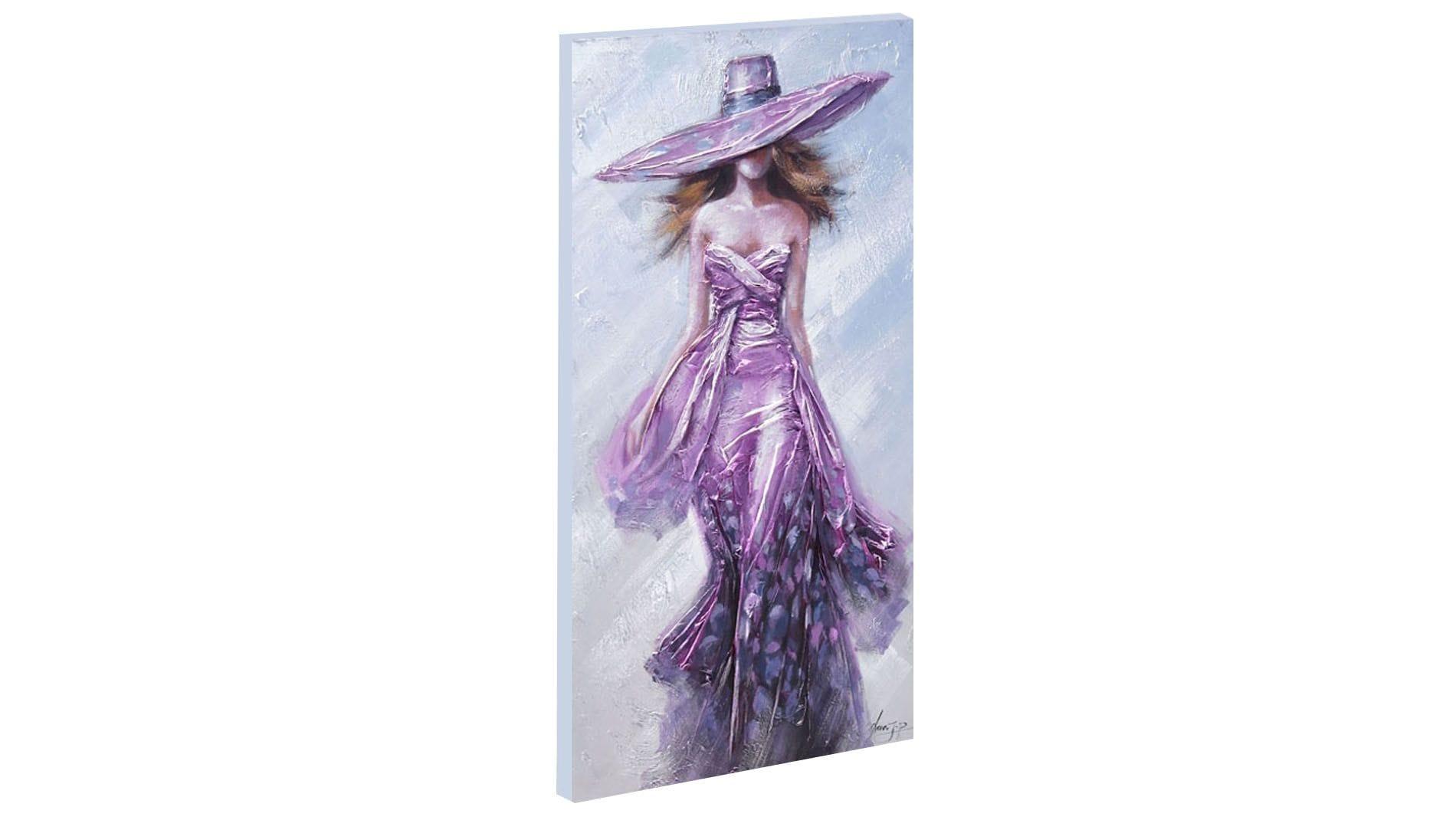 """Картина маслом """" Девушка в фиолетовом """""""