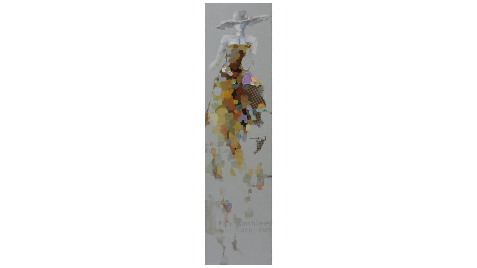 Картина маслом Девушка в шляпе - 4