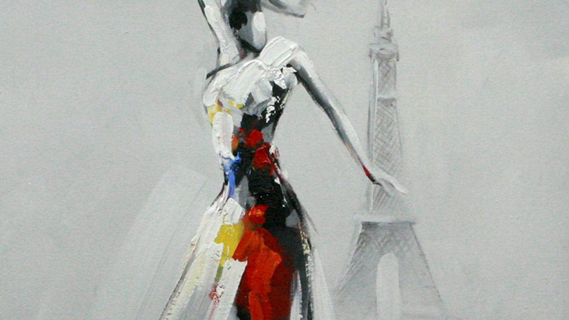 "Картина маслом "" Парижанка """