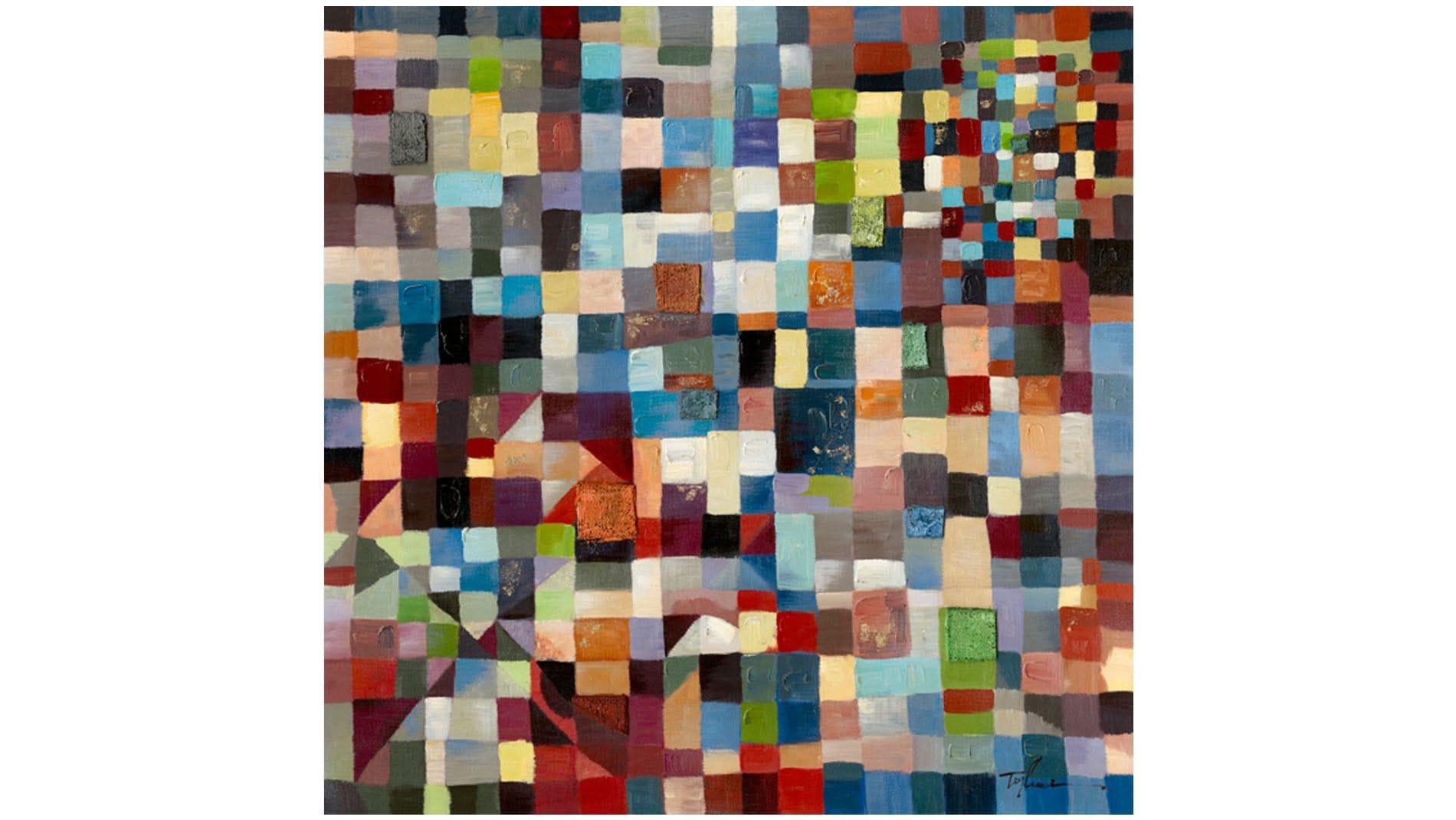Картина маслом Пиксели