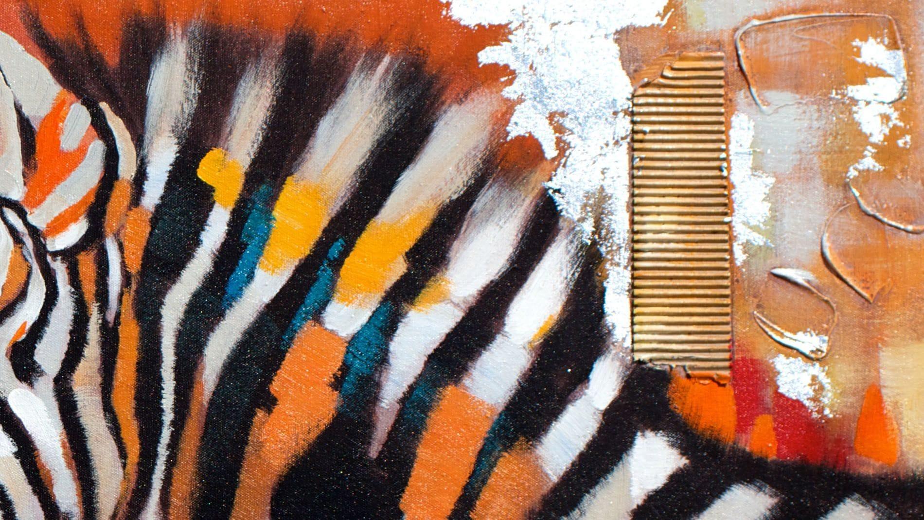 Картина маслом Зебра