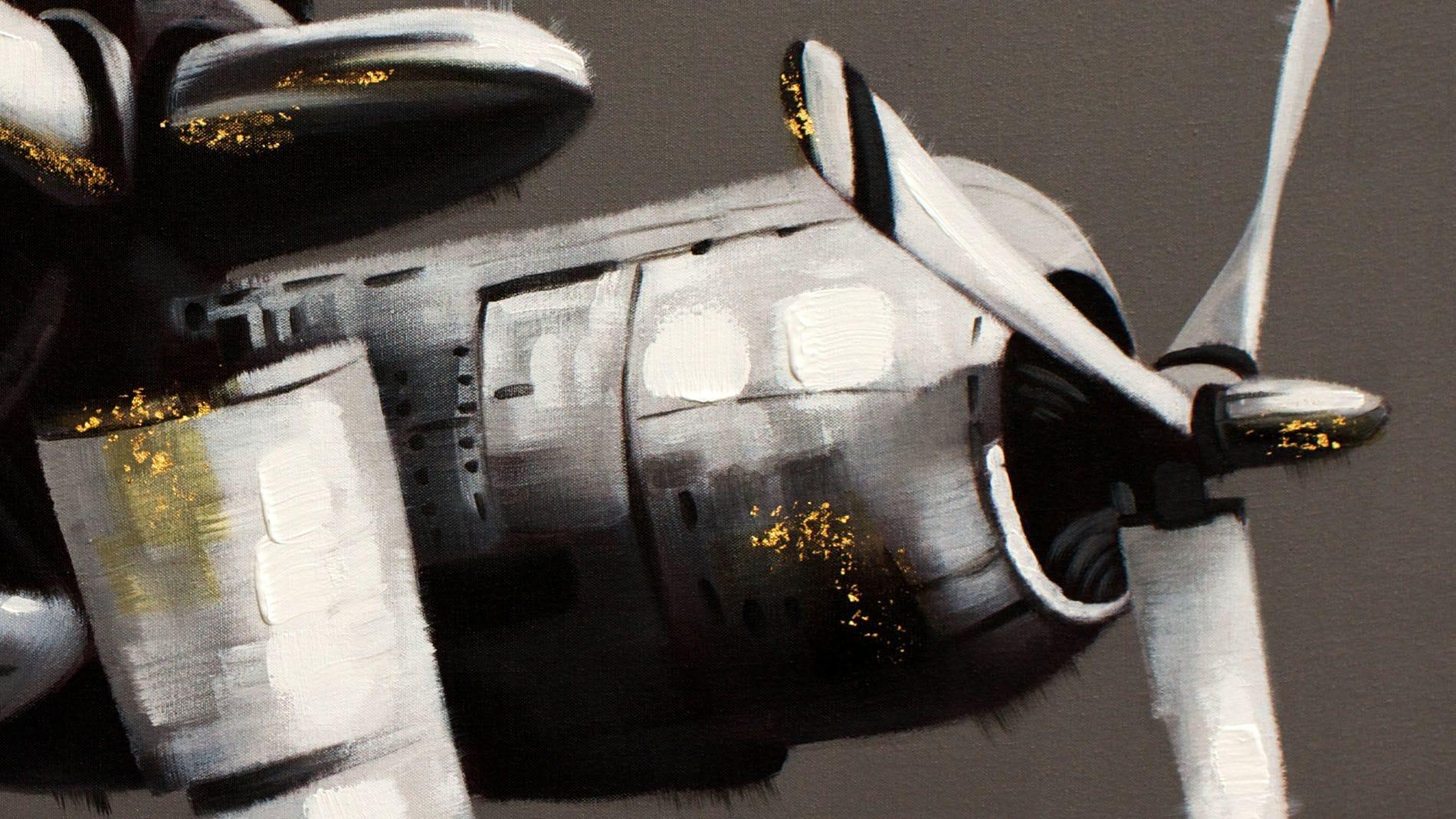 Картина маслом Самолет