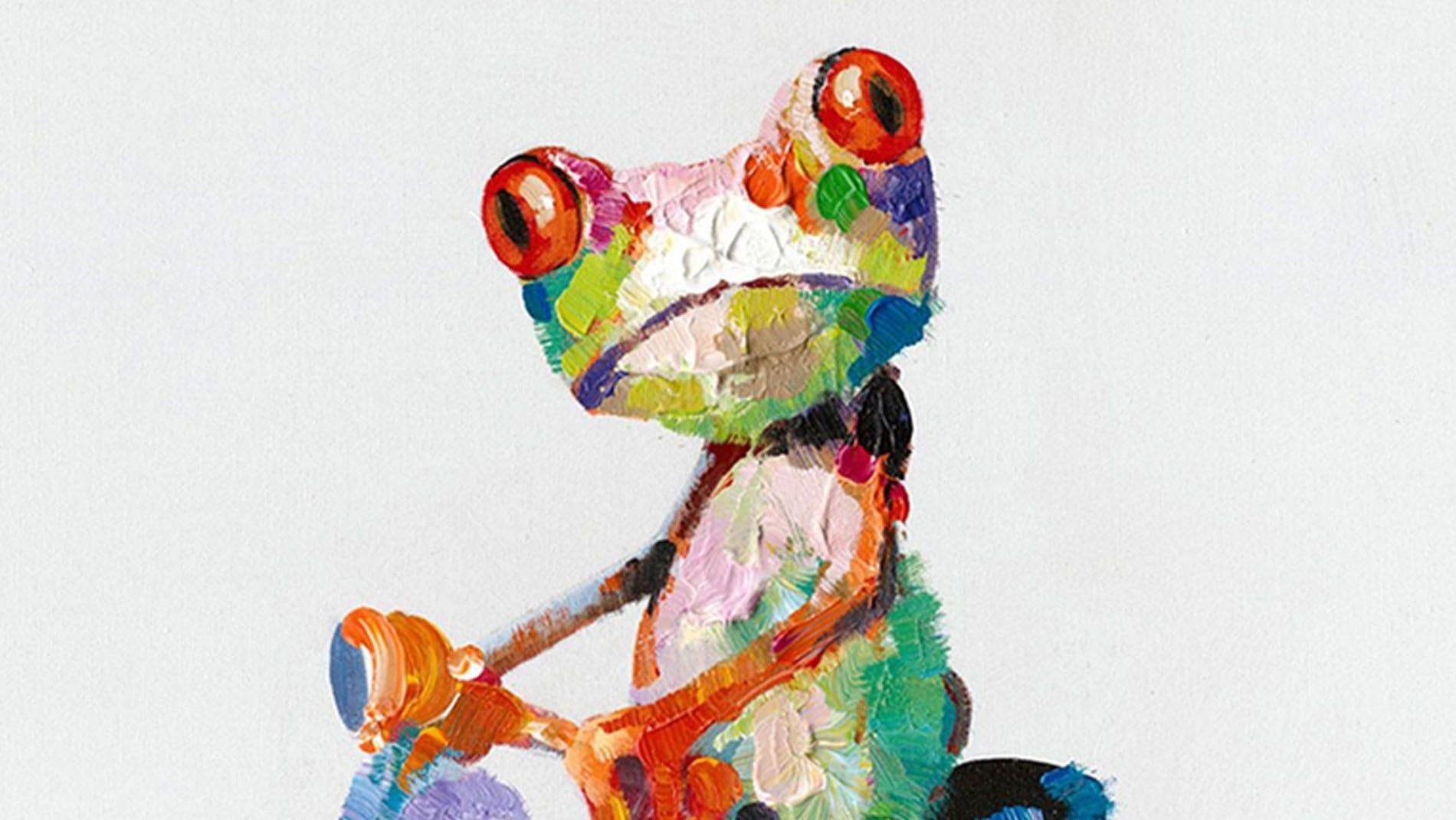 "Картина маслом "" Лягушка и мопед """