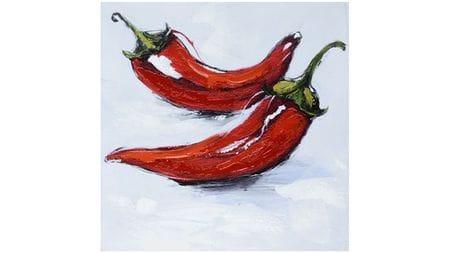 Картина маслом Красный перец