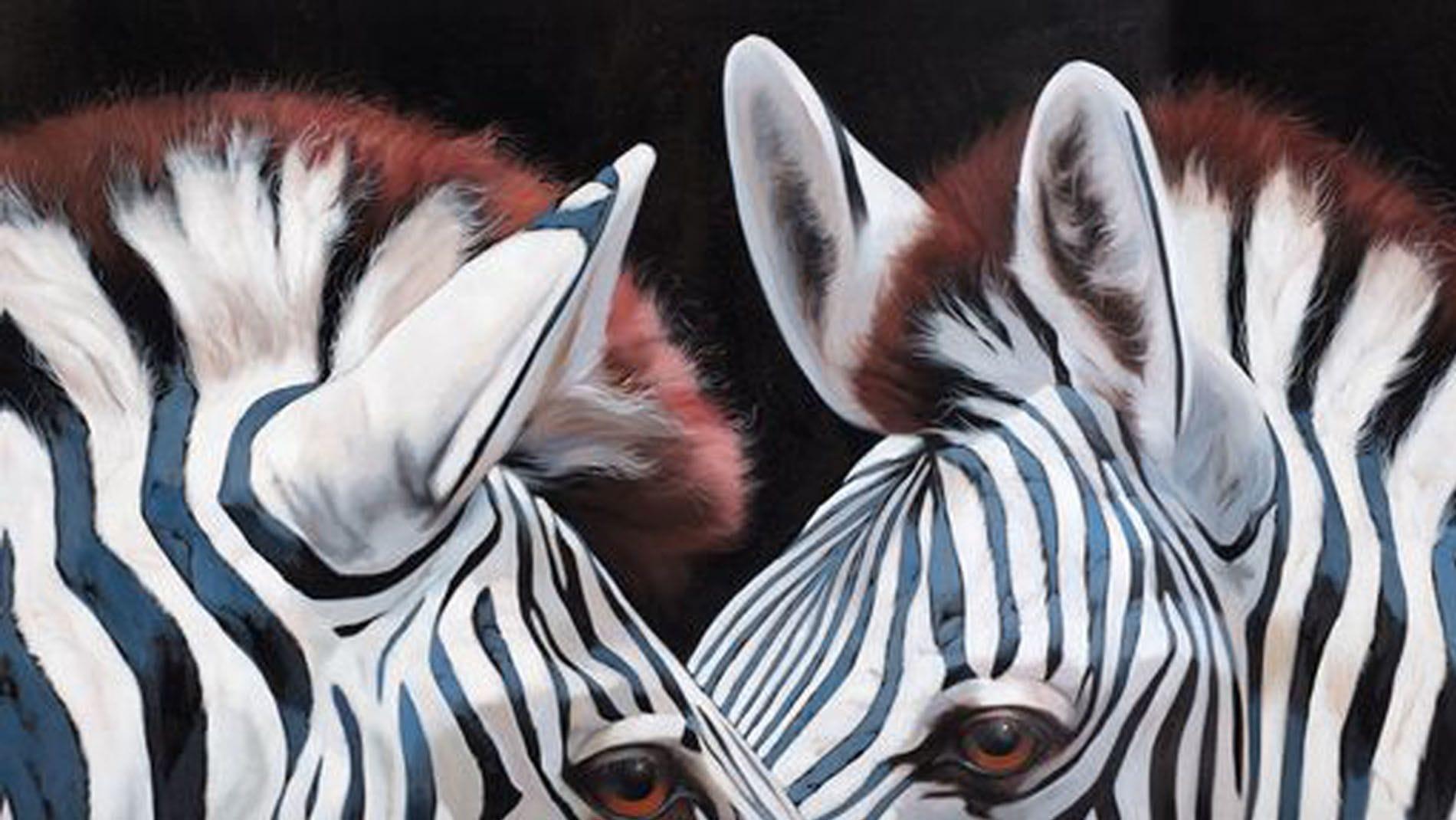 """Картина маслом """" Отражение зебры """""""