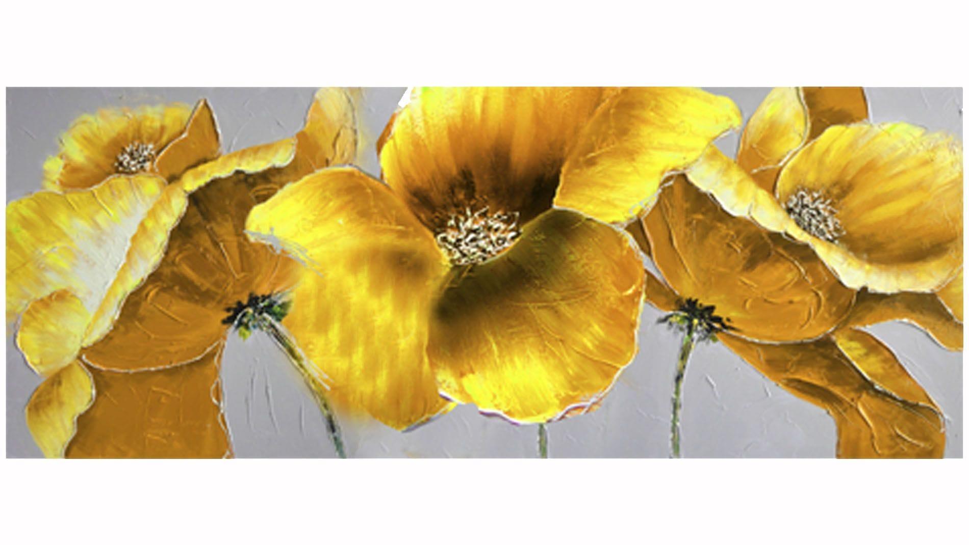 Картина маслом Желтая орхидея