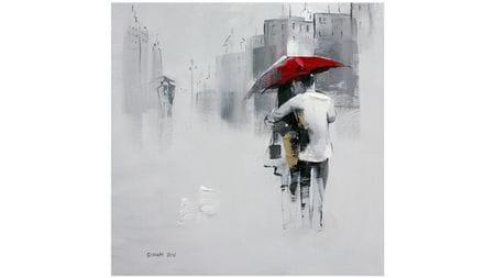 Картина маслом Поцелуй под зонтом