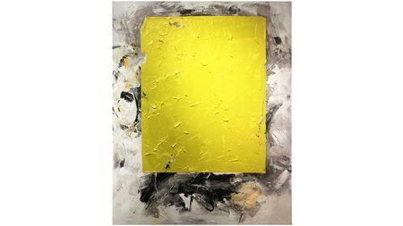 Картина желтый квадрат