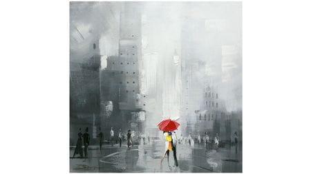 """Картина маслом """" Поцелуй под зонтом-2 """""""