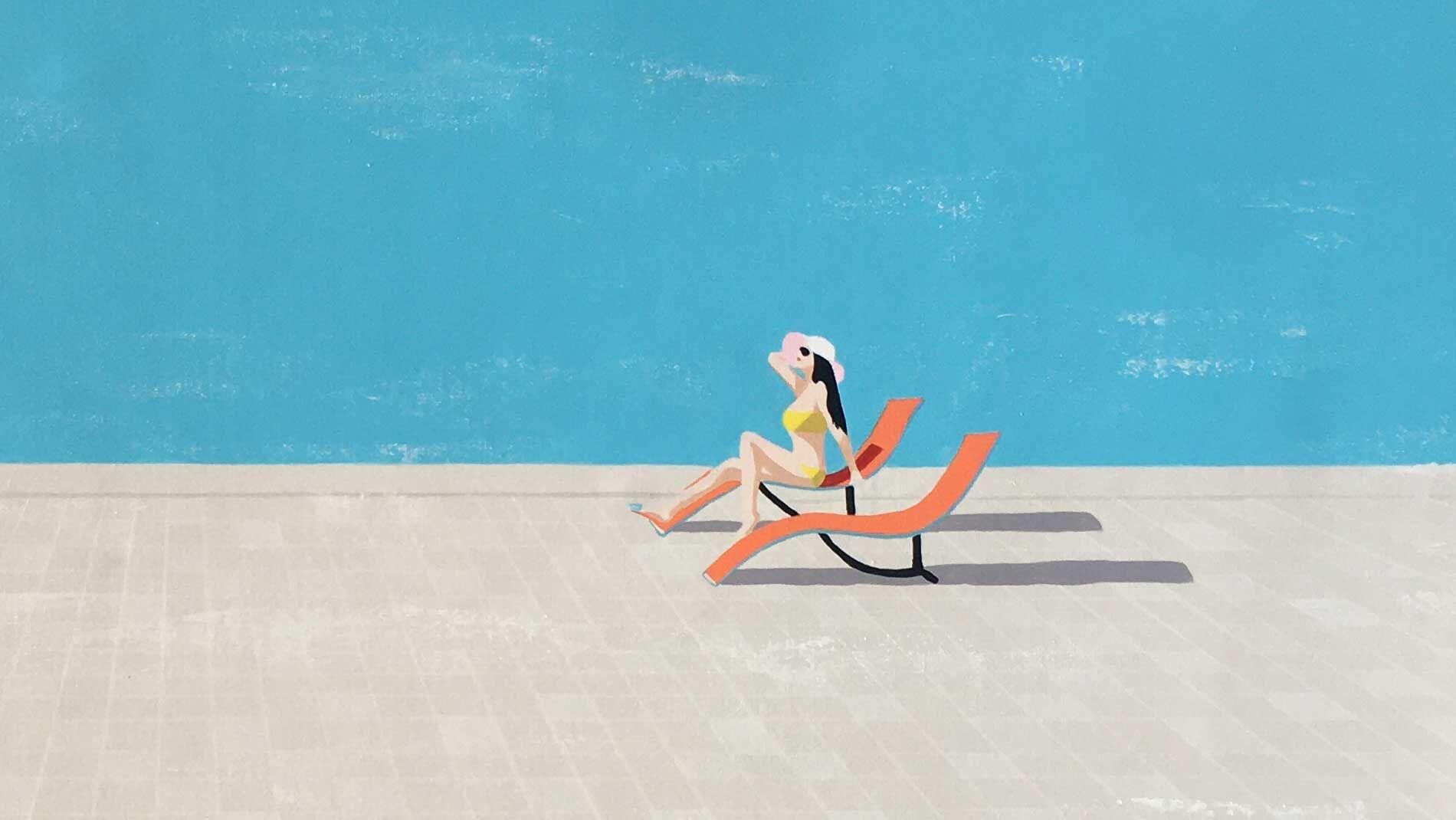Картина на холсте отдых у моря - 3