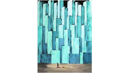 Картина на холсте мегаполис-2