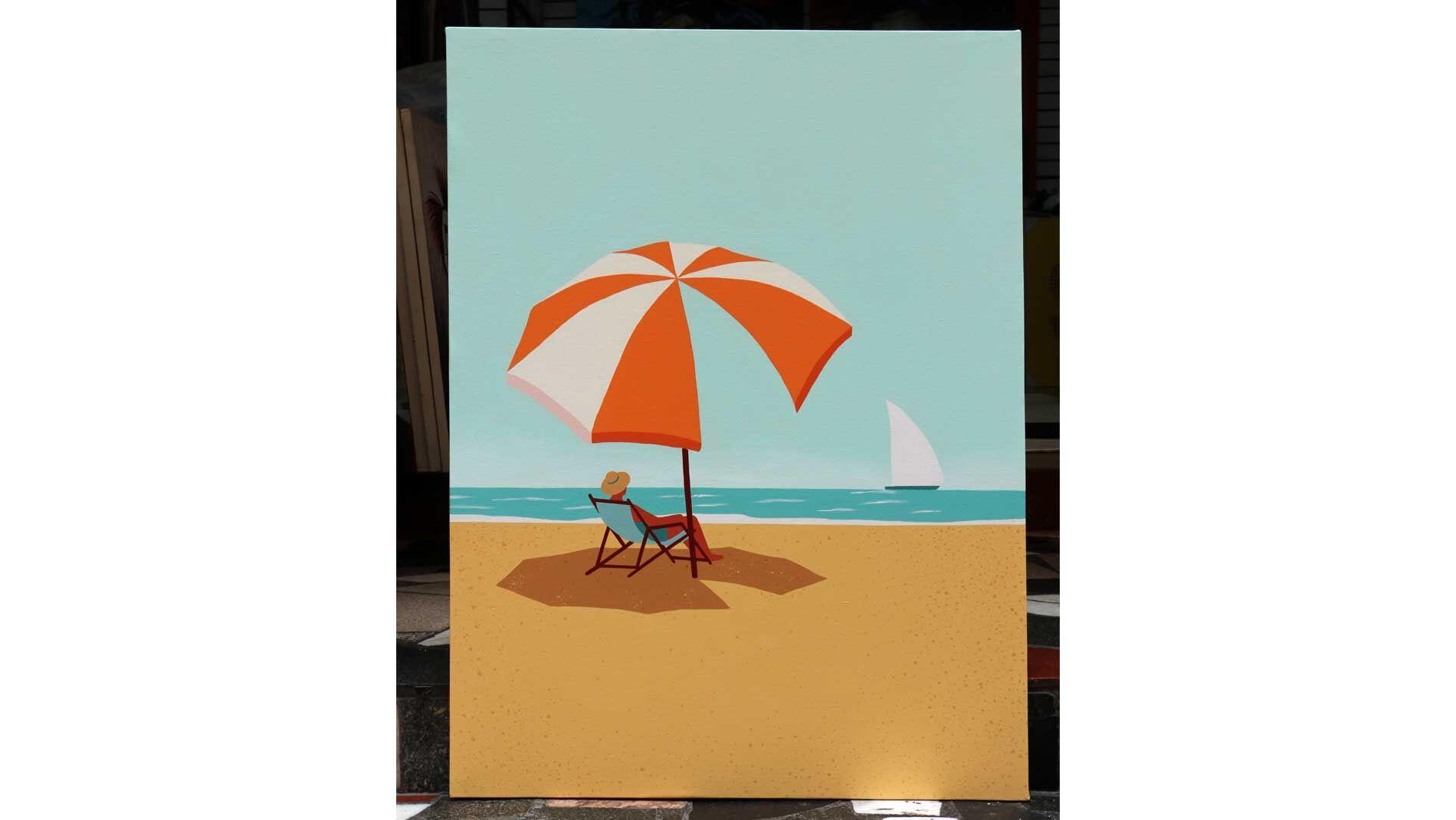 Картина на холсте Отдых на пляже