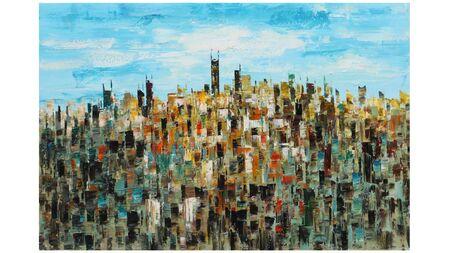Карина на холсте Город-2
