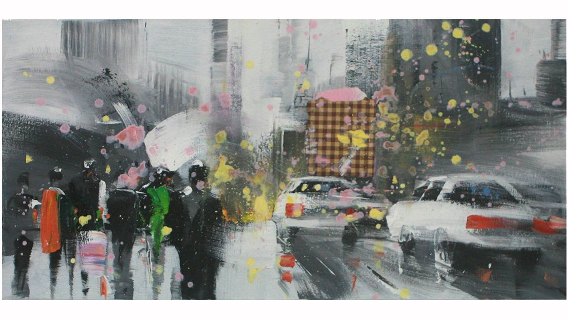Картина маслом Снегопад
