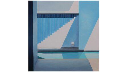 Картина на холсте стул у бассейна