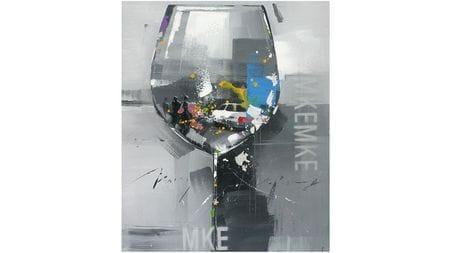 Картина маслом Отражение в стекле
