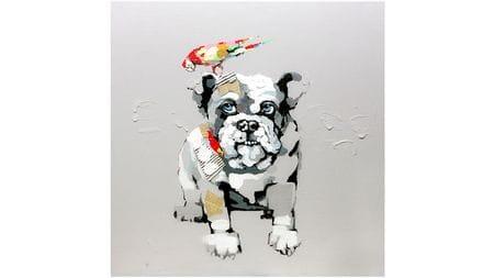 Картина маслом Собака и попугай