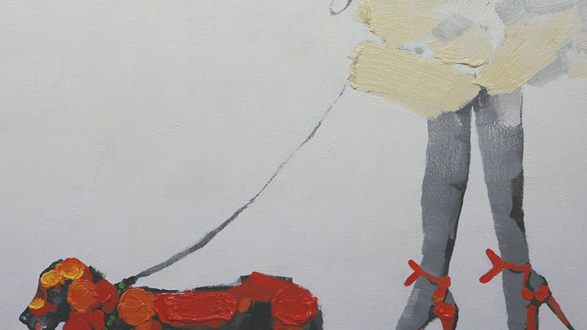 """Картина маслом """" Прогулка-2 """""""
