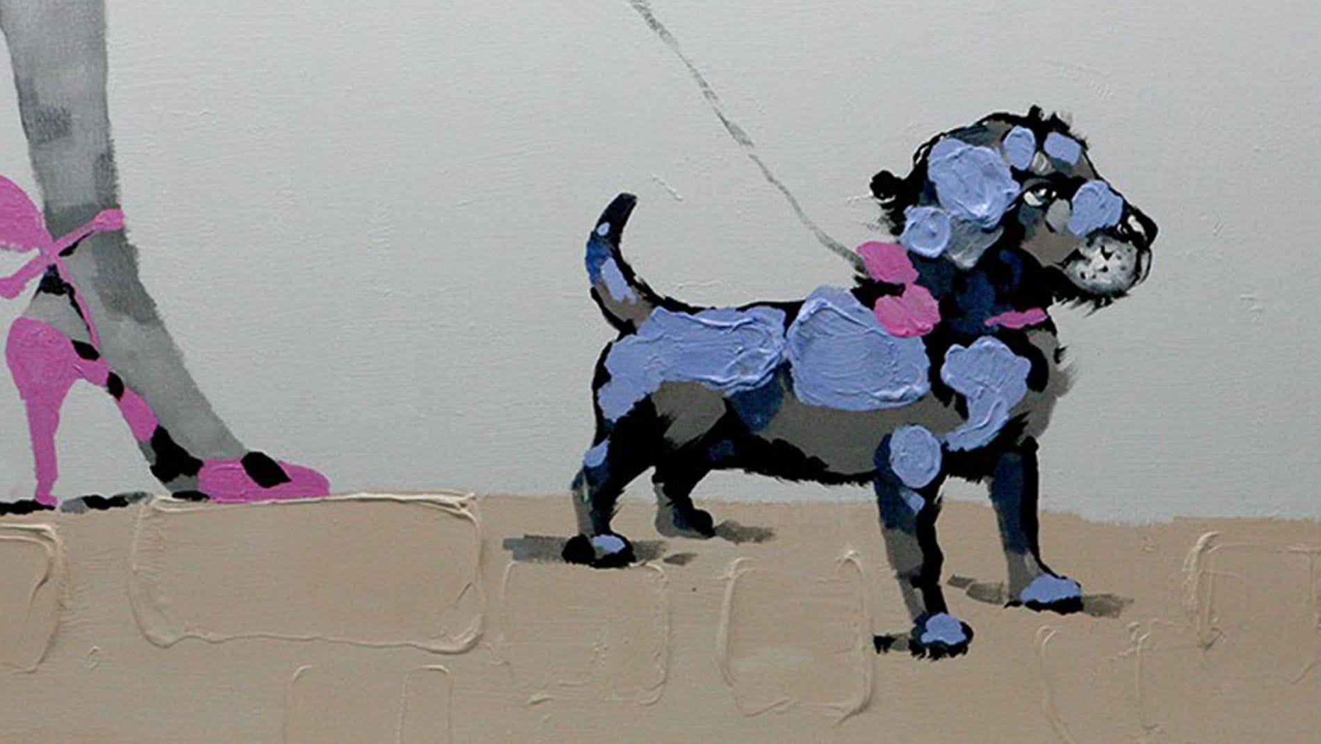 Картина маслом Девочка и собака