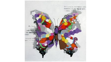Картина маслом Бабочка