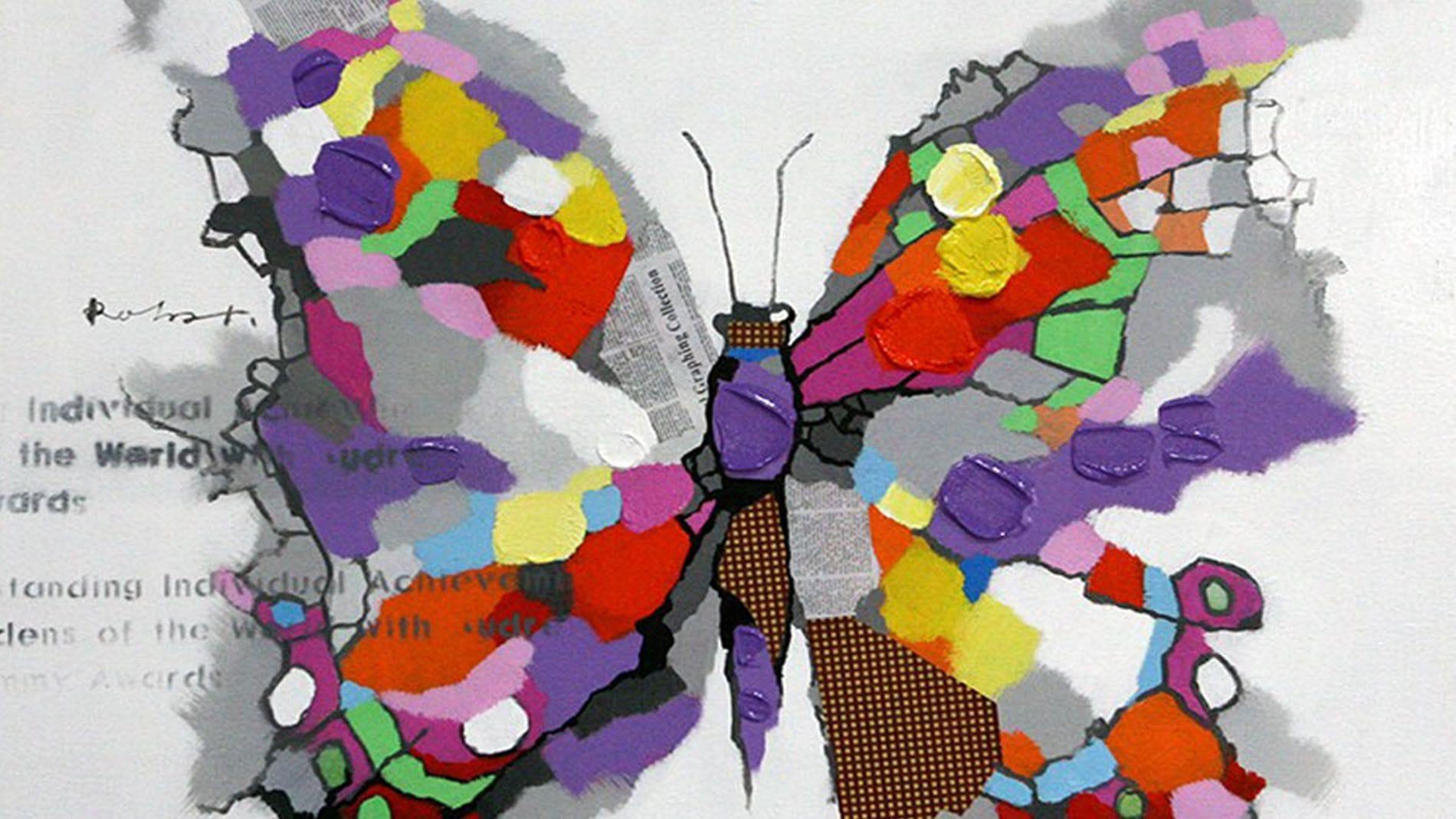 """Картина маслом """" Бабочка """""""