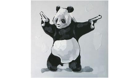 Картина маслом Панда-бандит