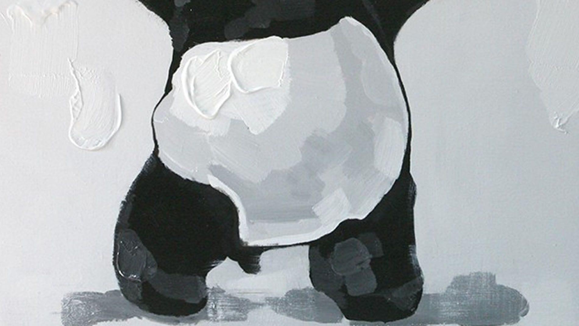 "Картина маслом "" Панда-бандит """