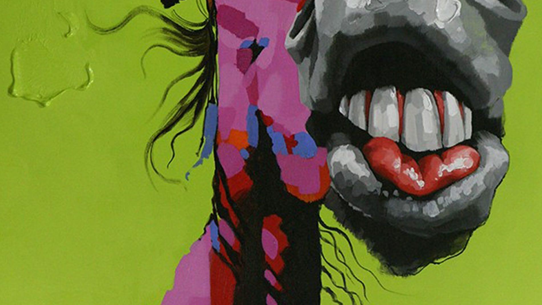 """Картина маслом """" Лошадь """""""