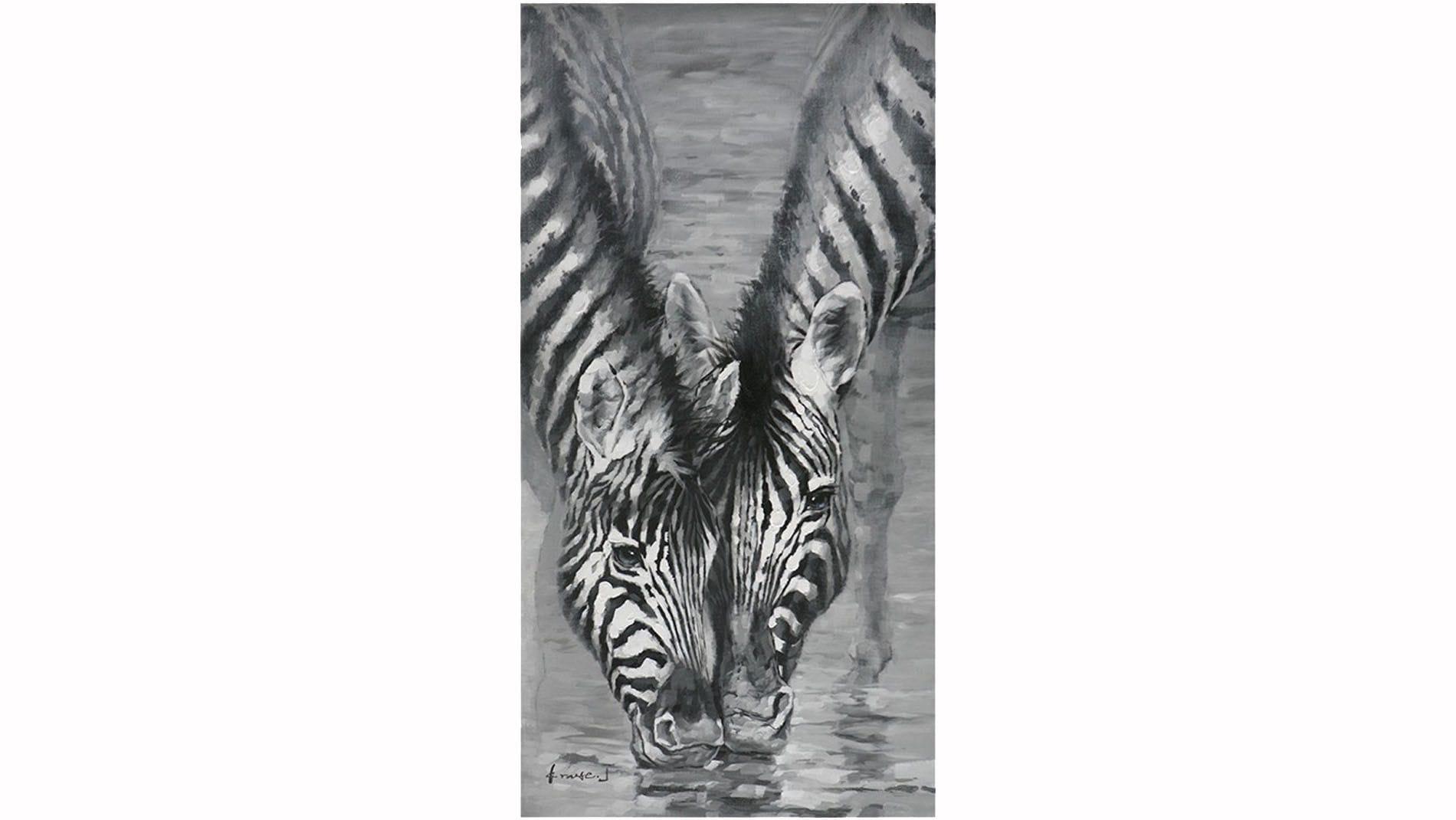 "Картина маслом "" Две зебры """