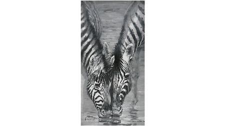 Картина маслом Две зебры