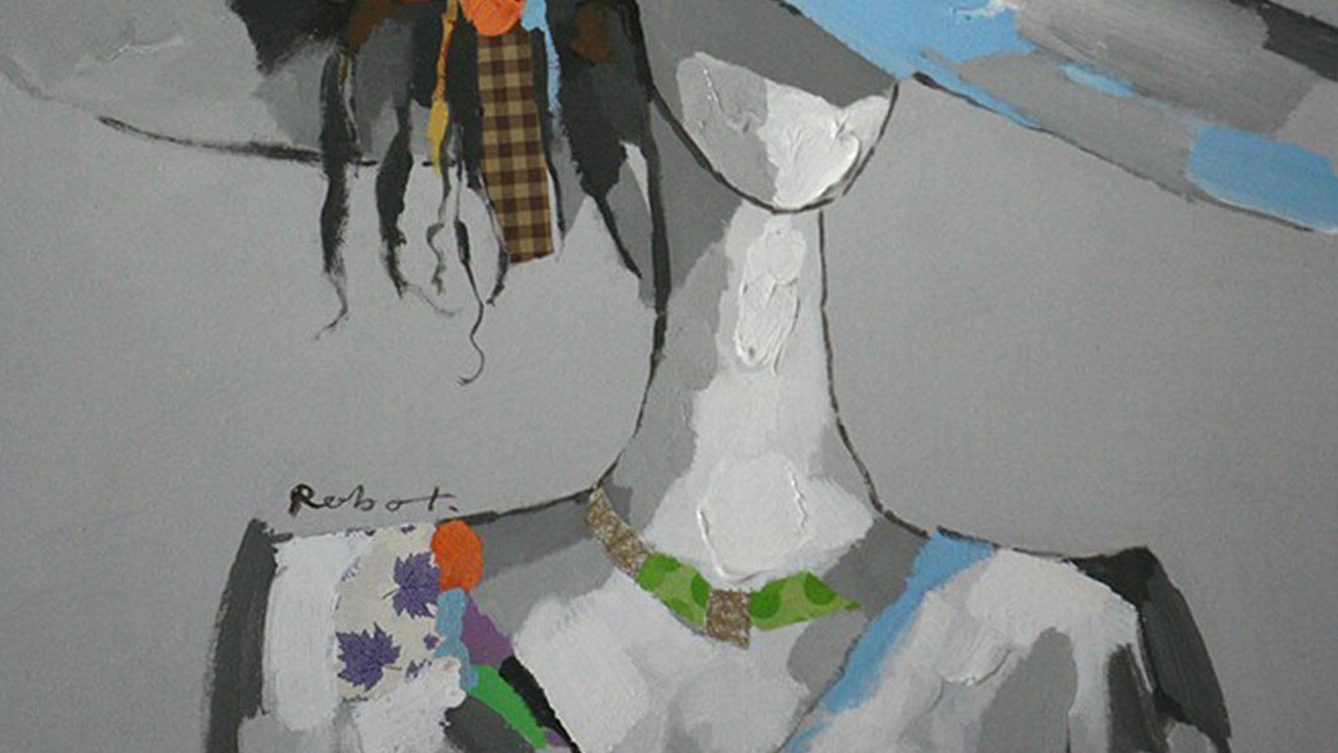 """Картина маслом """" Мадемуазель """""""