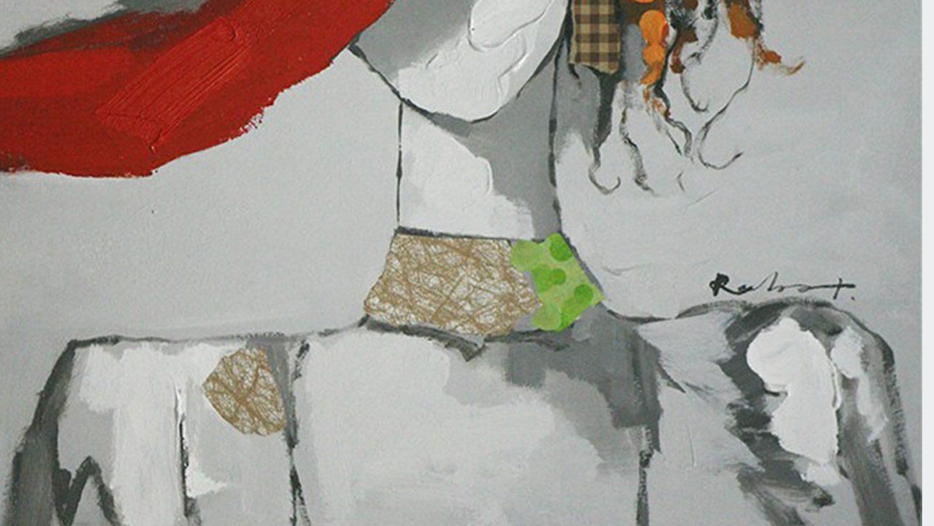 """Картина маслом """" Мадемуазель - 2 """""""