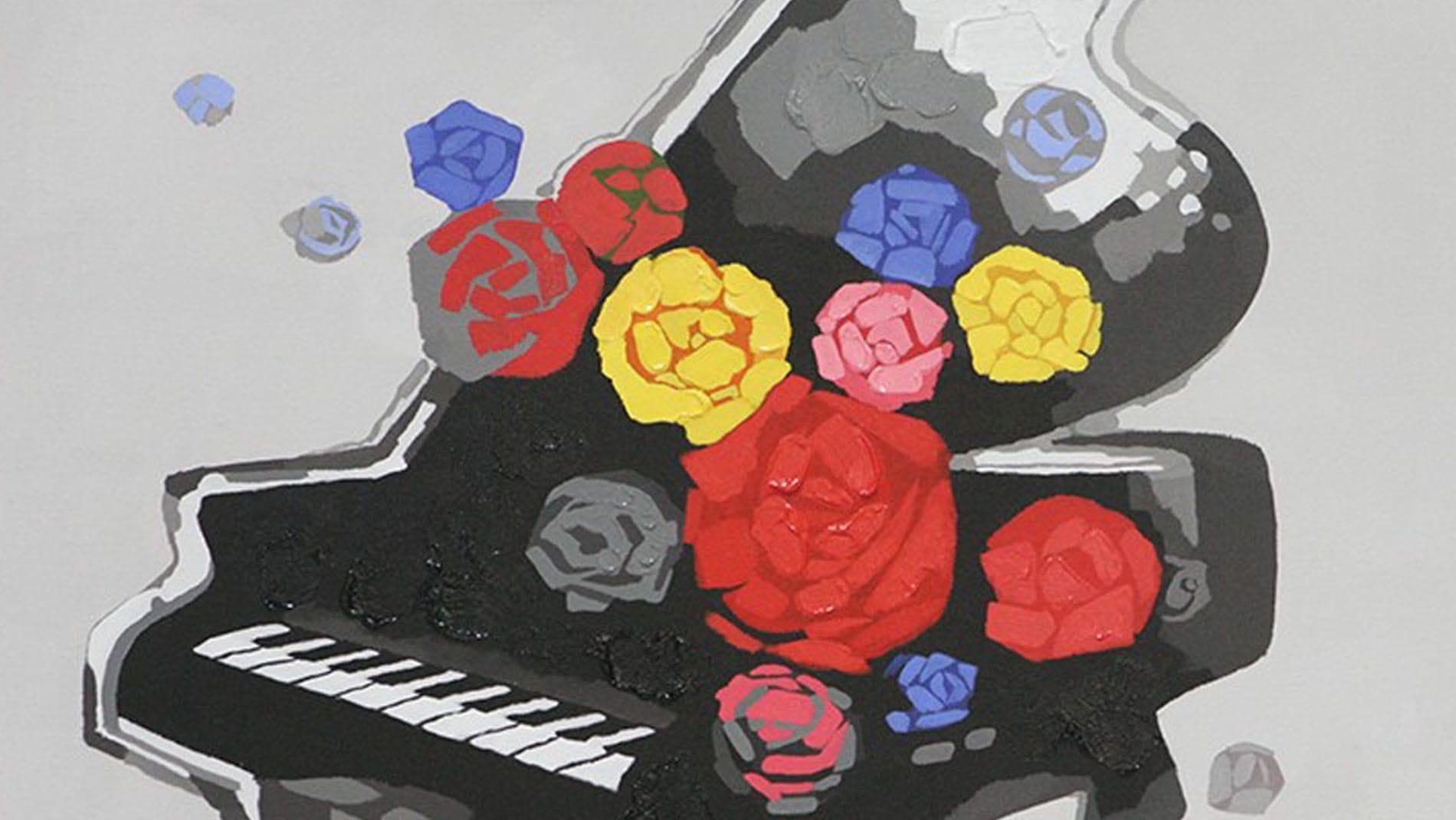 "Картина маслом "" Фортепиано """
