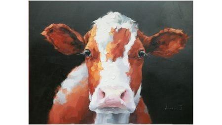 Картина маслом Корова
