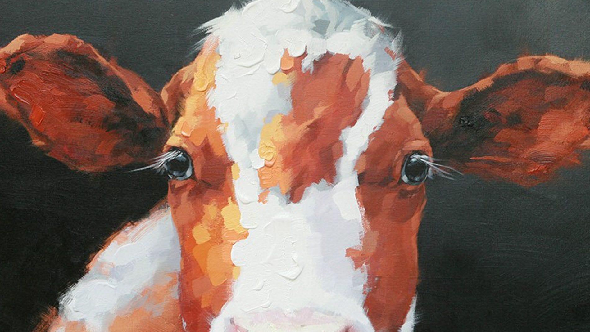 """Картина маслом """" Корова """""""