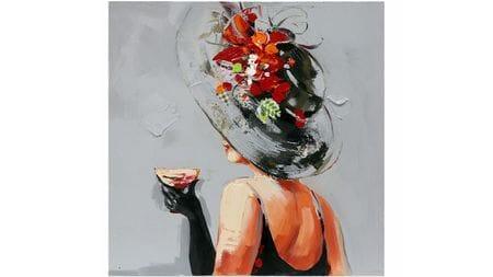 Картина маслом Мадам со стаканом