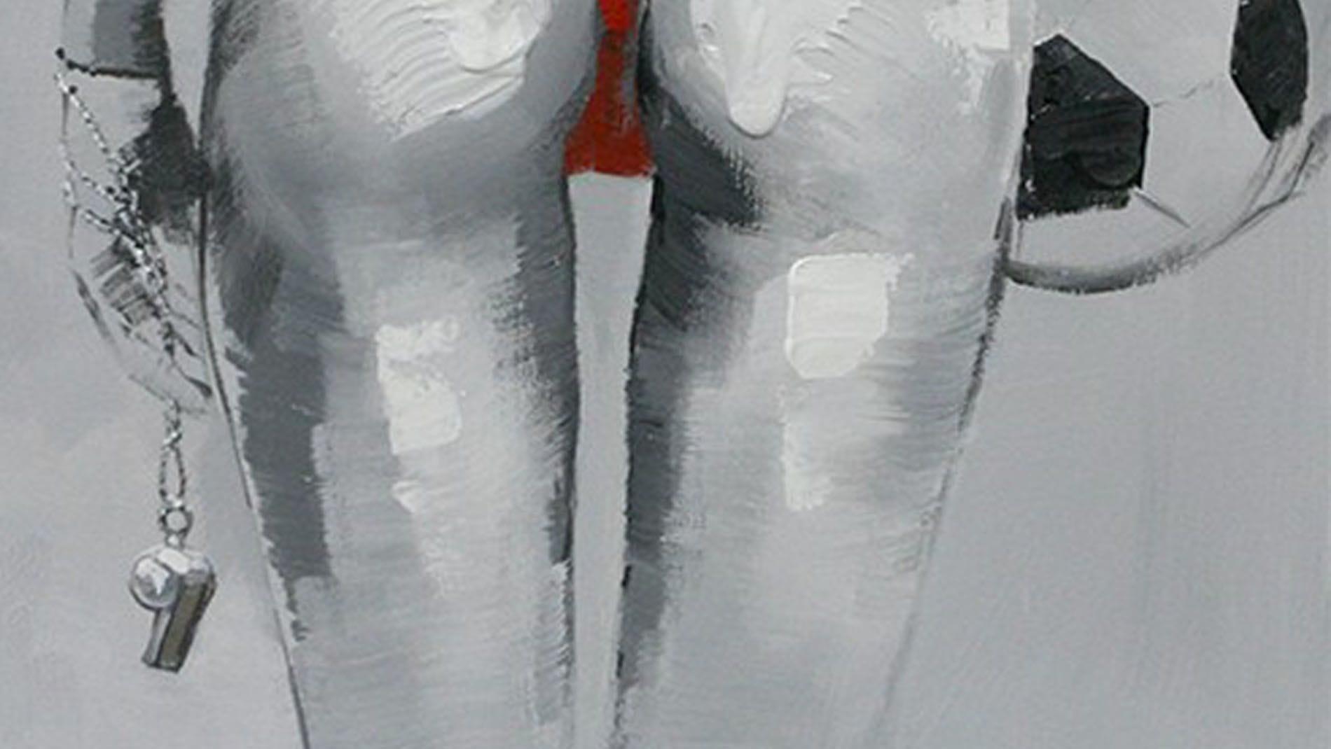 """Картина маслом """" Пляжный волейбол - 3 """""""
