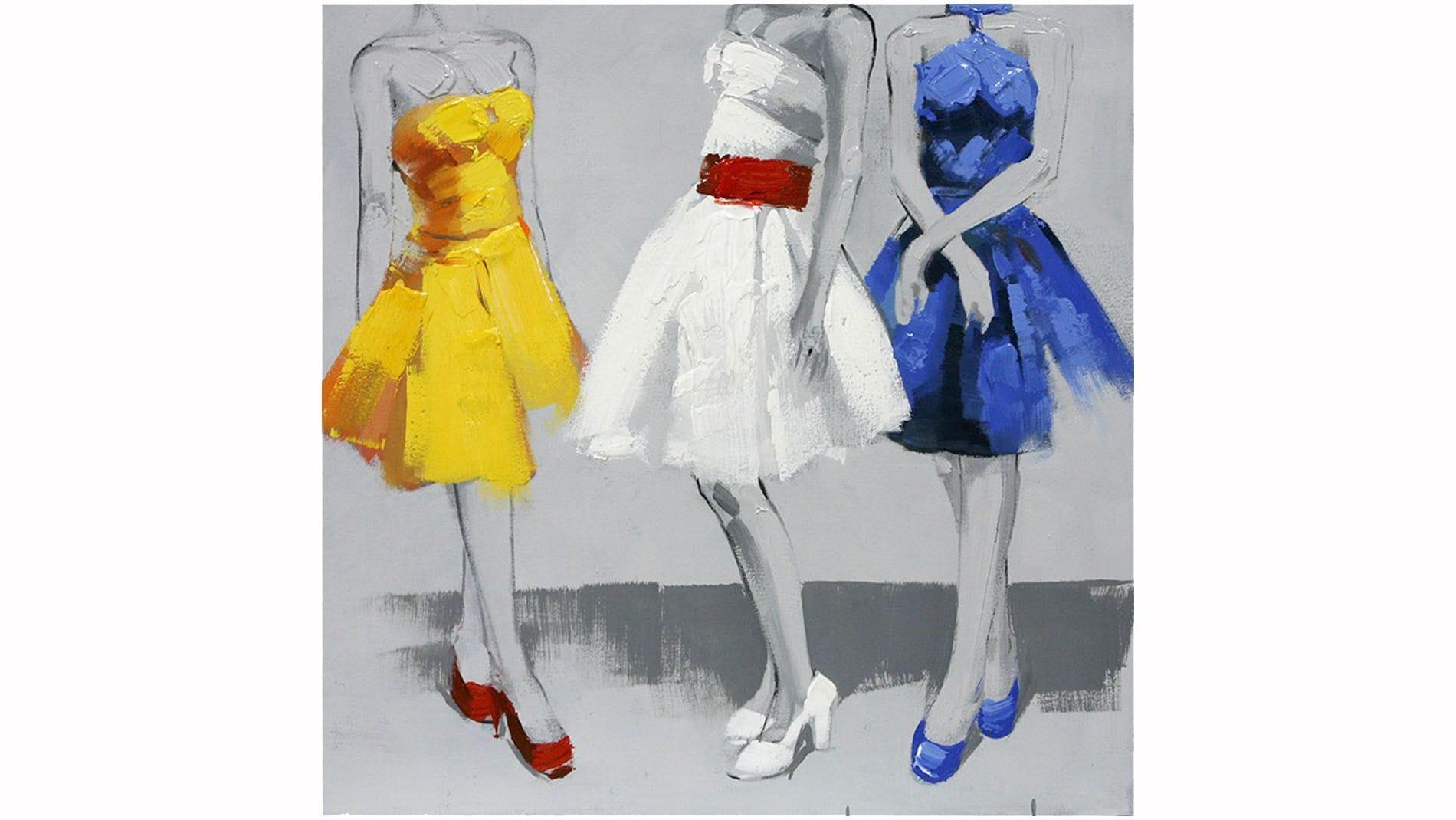 """Картина маслом """" Три дамы """""""