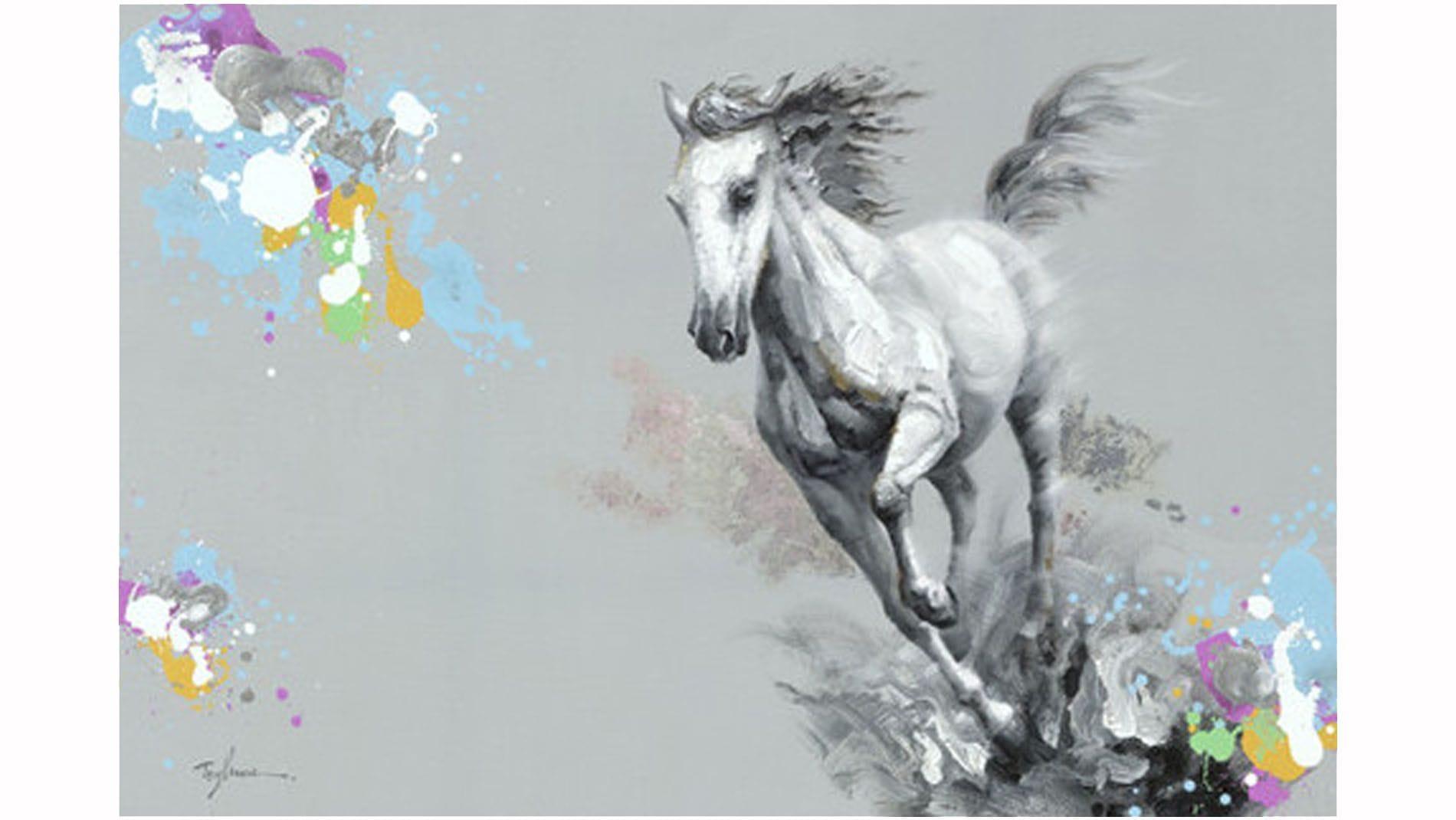 """Картина маслом """" Сказочная лошадь """""""