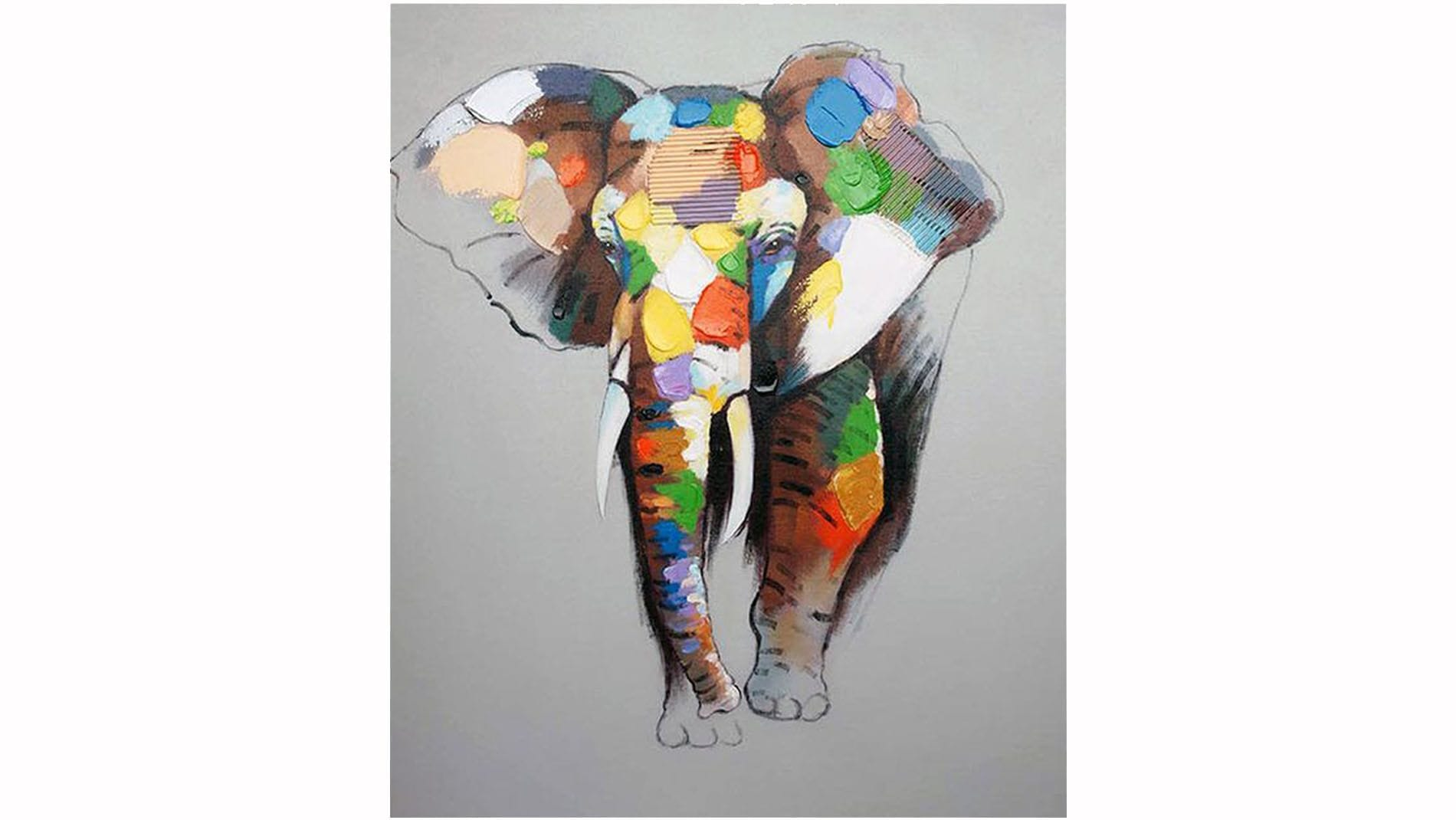 """Картина маслом """" Слон - 3 """""""