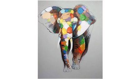 Картина маслом Слон - 3