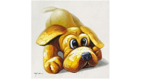 Картина маслом Щенок