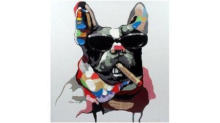 Картина маслом Собака-босс
