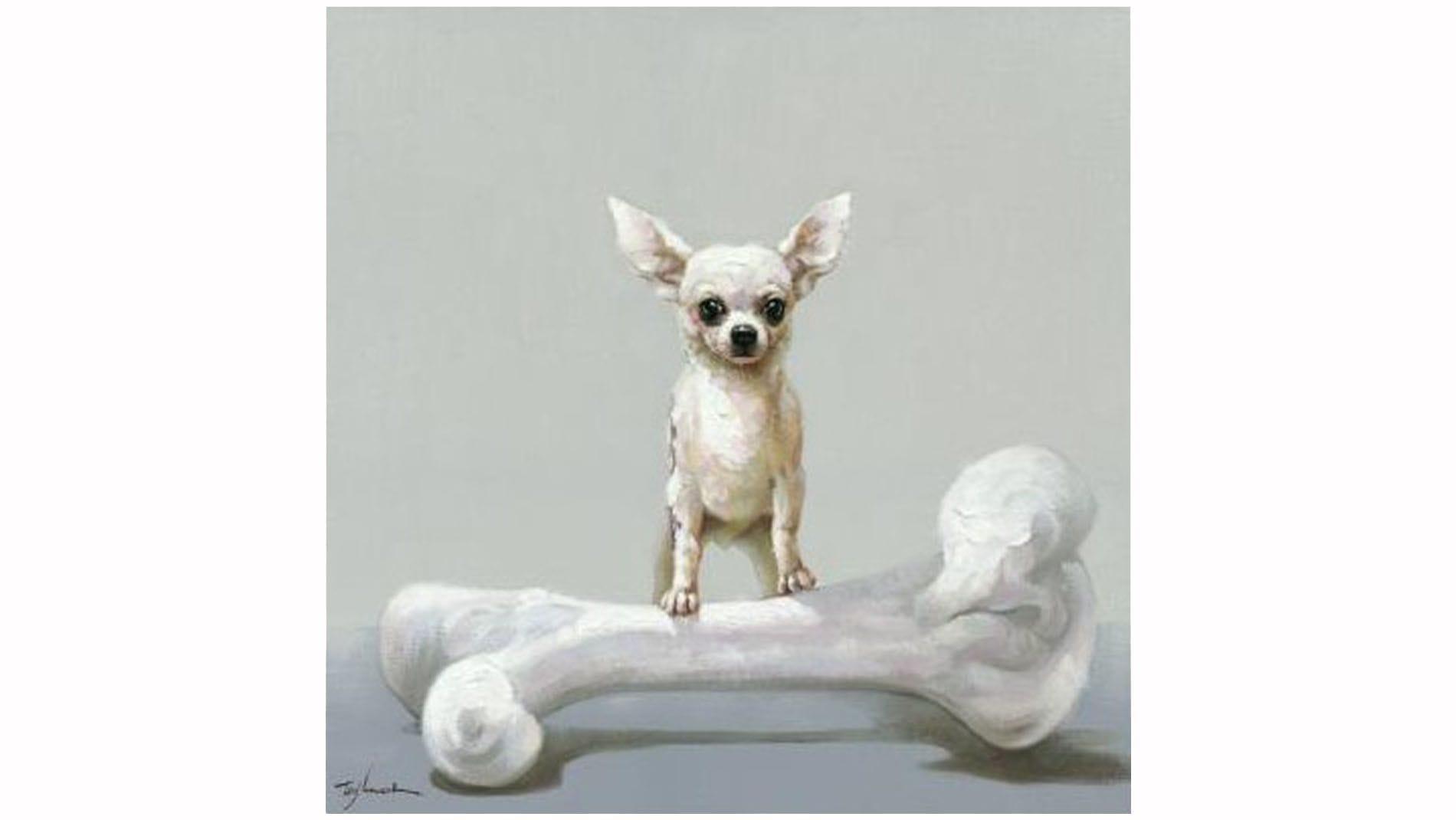 """Картина маслом """" Собака и кость """""""
