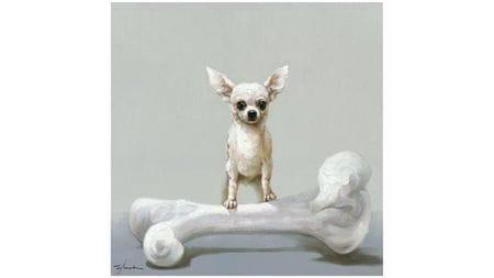 Картина маслом Собака и кость