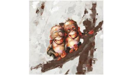 Картина маслом Братья обезьяны