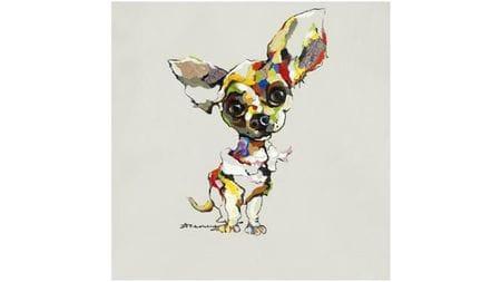 """Картина маслом """" Собака слушает - 2 """""""