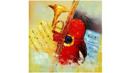 Картина маслом Саксофон