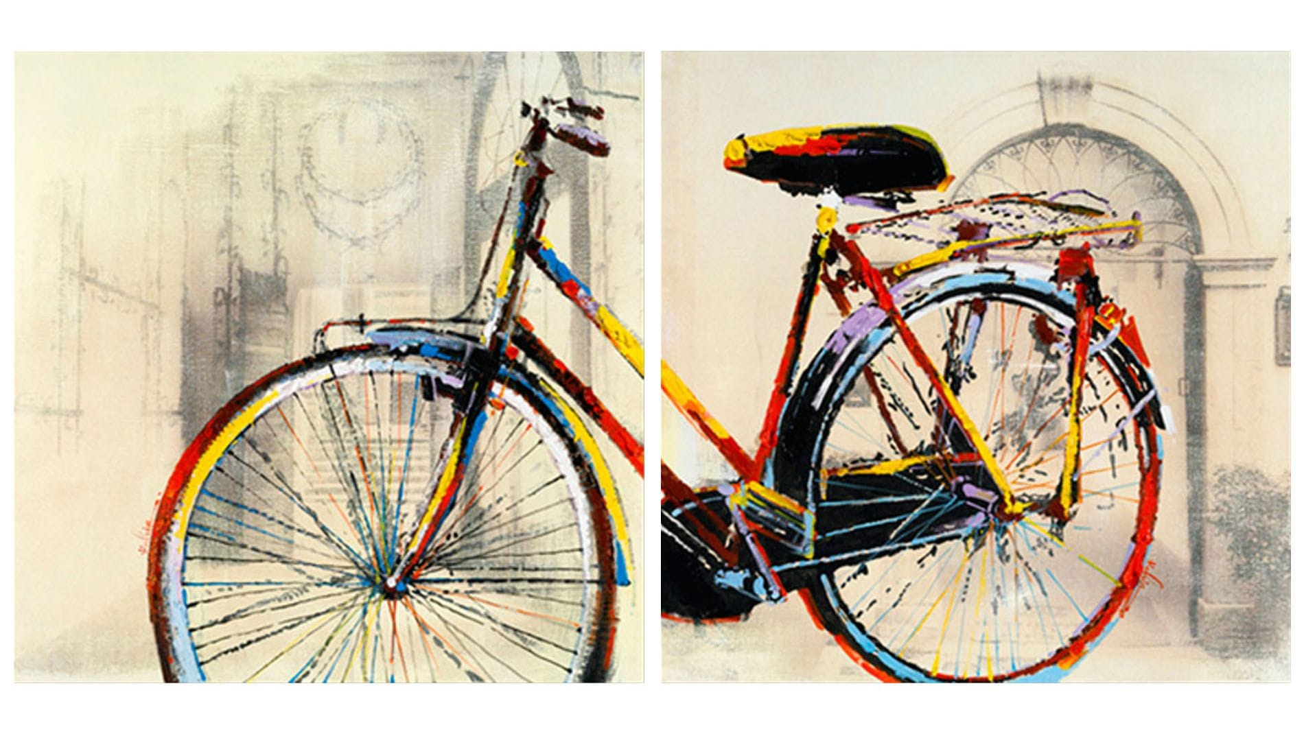 "Картина маслом "" Модулная картина Велосипед """