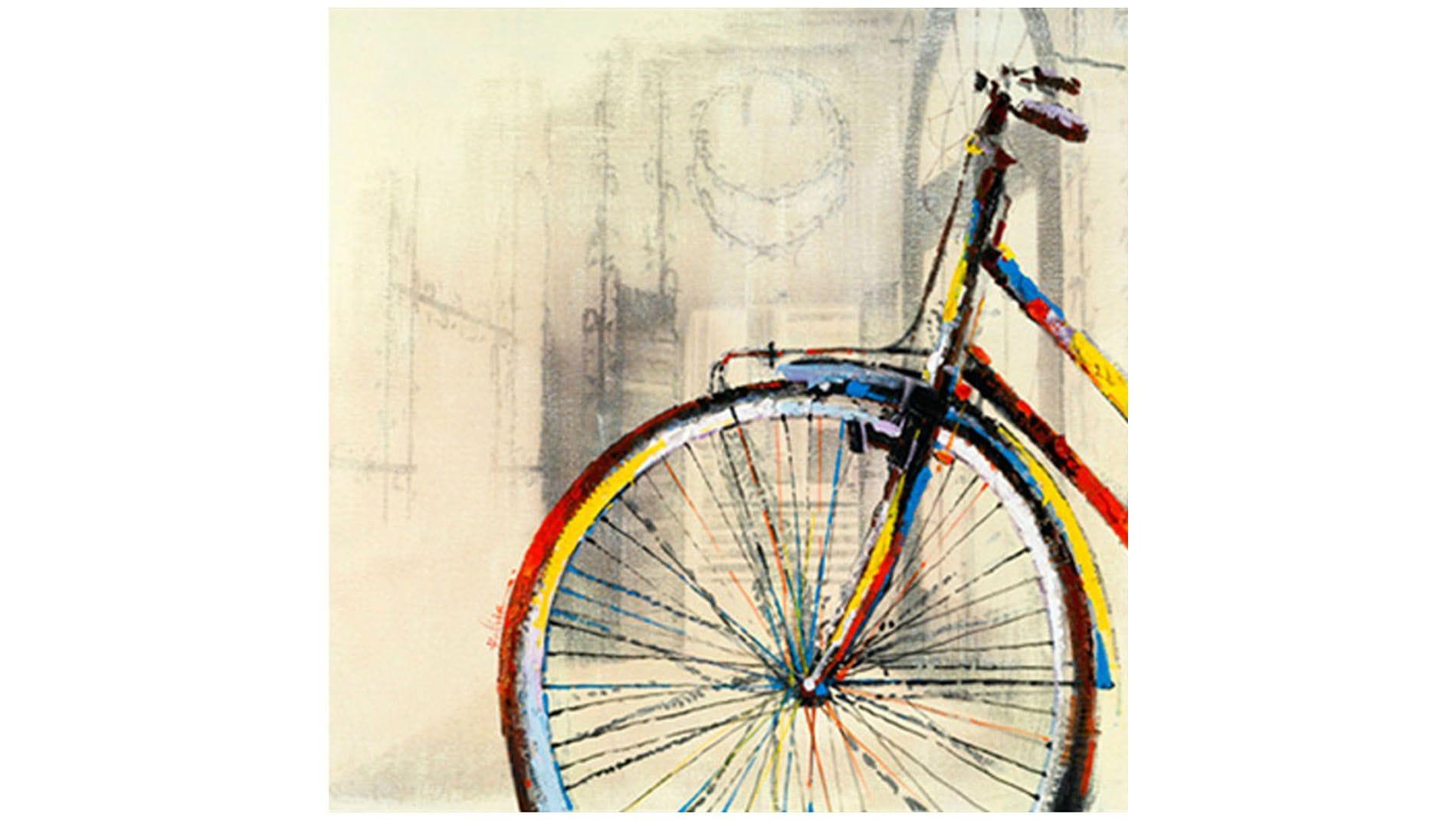 """Картина маслом """" Велосипед - 2 """""""